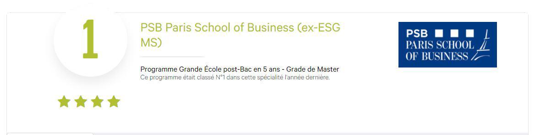 PSB, l'EMLV, l'EBS et l'EDC sont des écoles accessibles grâce au concours LINK