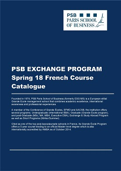 PSB Exchange & Study Abroad Program Spring 18 English Course Catalogue