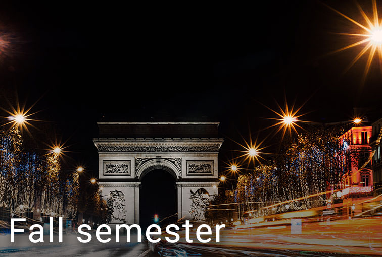 Events in Paris during the Fall semester