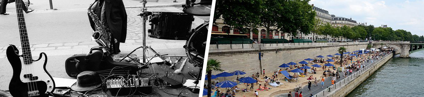 Fete de la musique and Paris plage in Paris