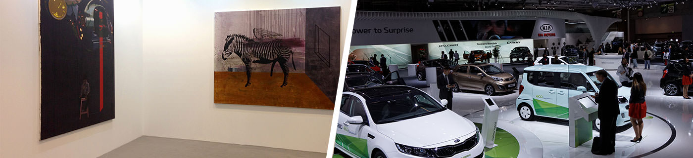 International comptemporary Art Fair and Mondial de l'Automobile in Paris