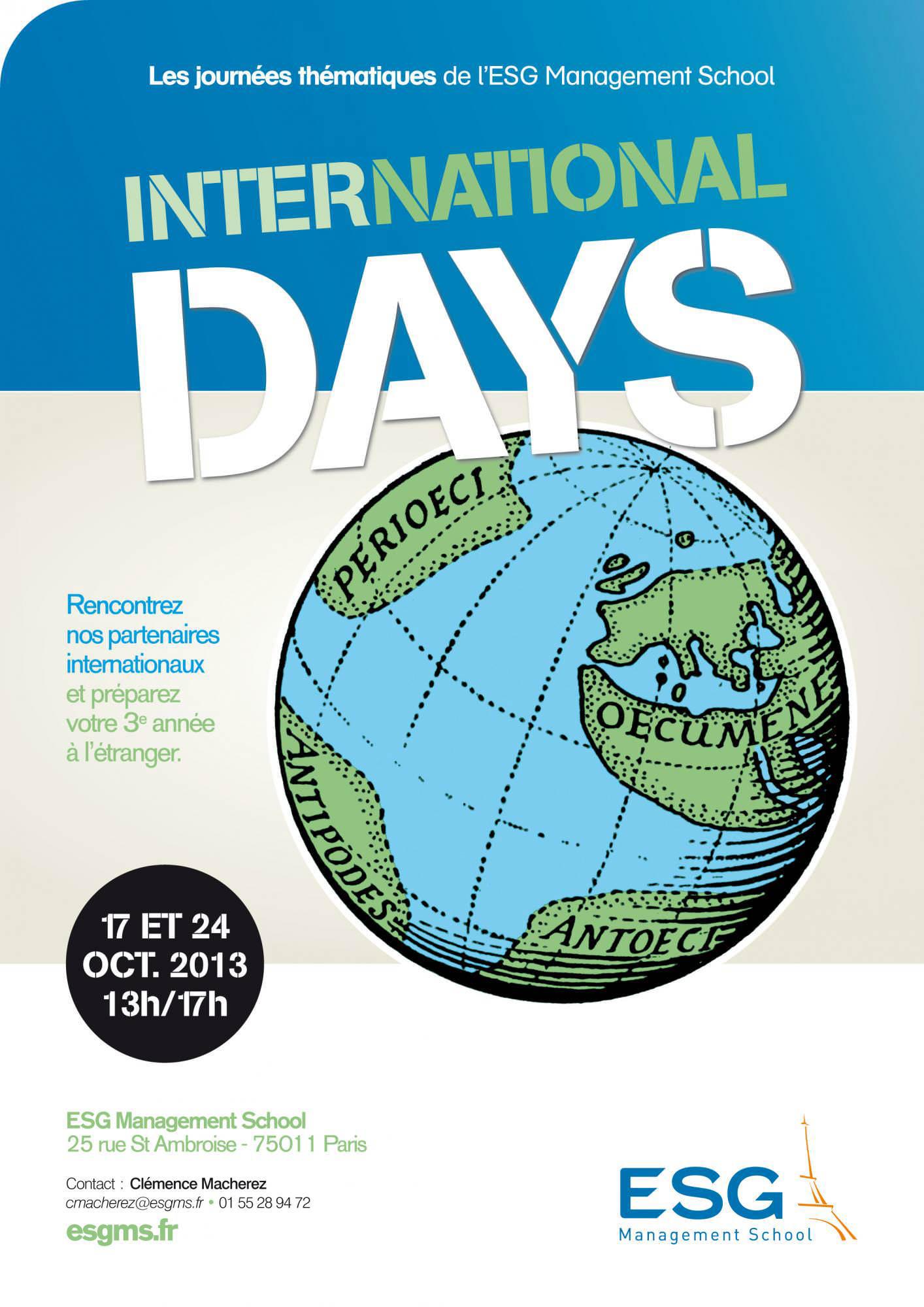 24 octobre 2013 : Journée internationale à l'ESG Management School