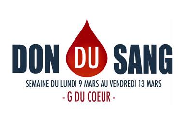 Semaine du don du sang par G du Coeur à partir du 9 mars