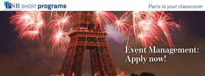 Sign up for two weeks of Event Management in Paris!