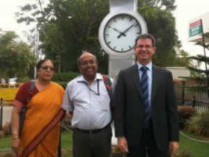 Mr. McGetrick participates in Corporate Social Responsibility discussions during his visit to partner Alliance University in India