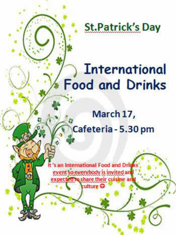 International Food & Drinks Event on St Patrick's Day