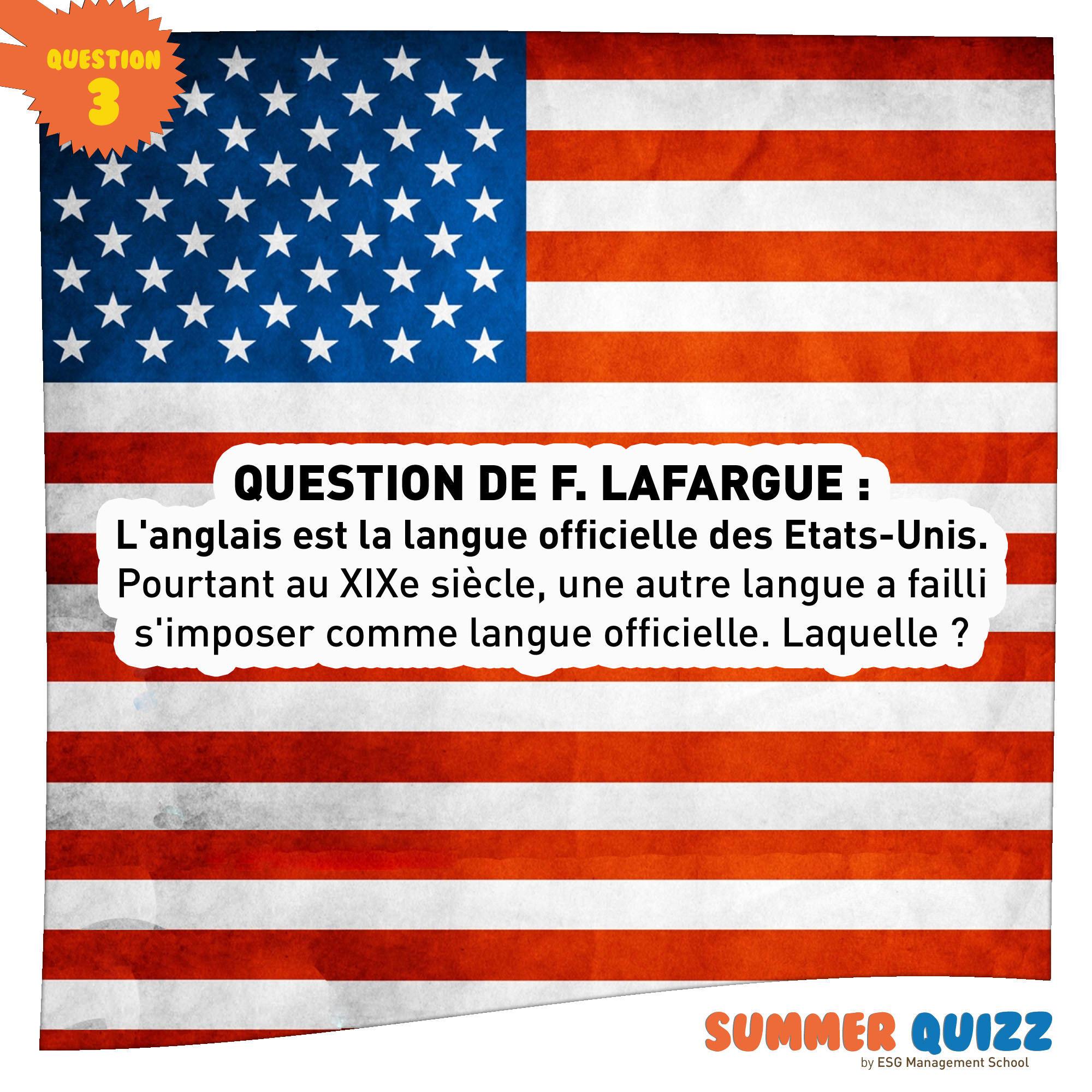 Summer Quizz #3 - Réponse et gagnant