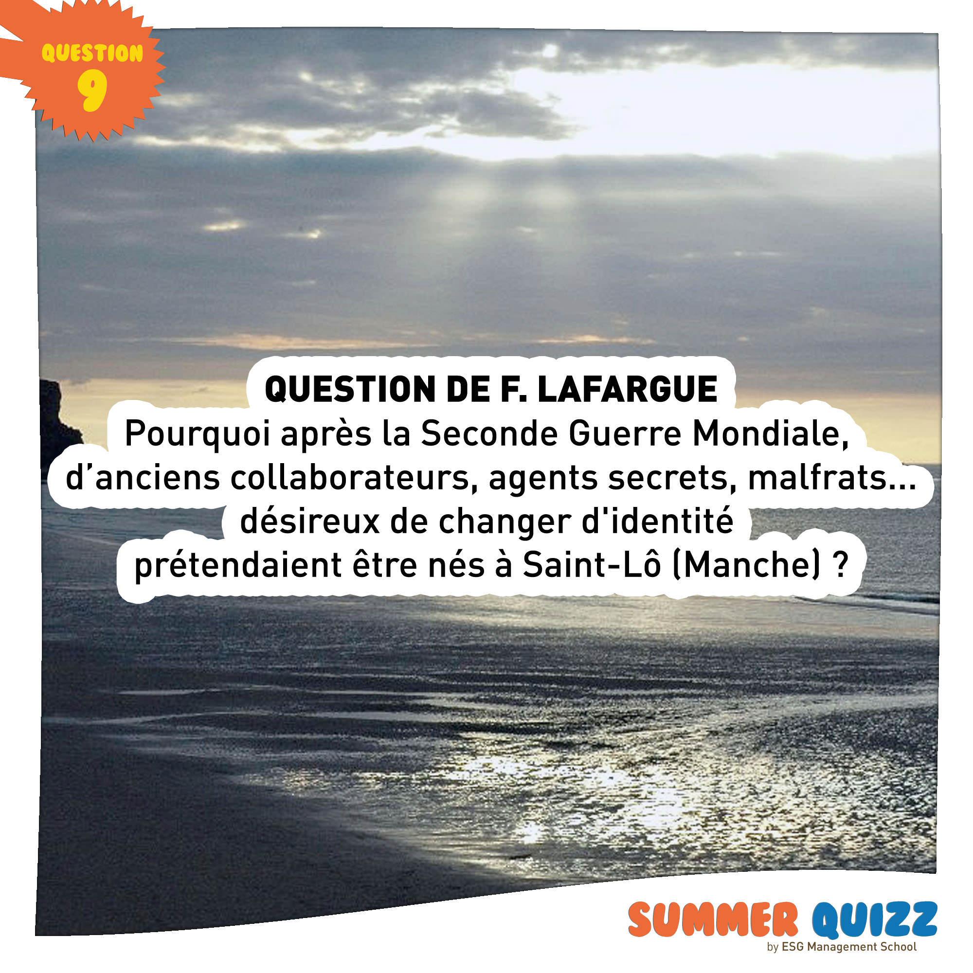 Summer Quizz #9 - Réponse et gagnant