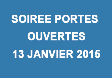 Soirée Portes Ouvertes le 13 janvier