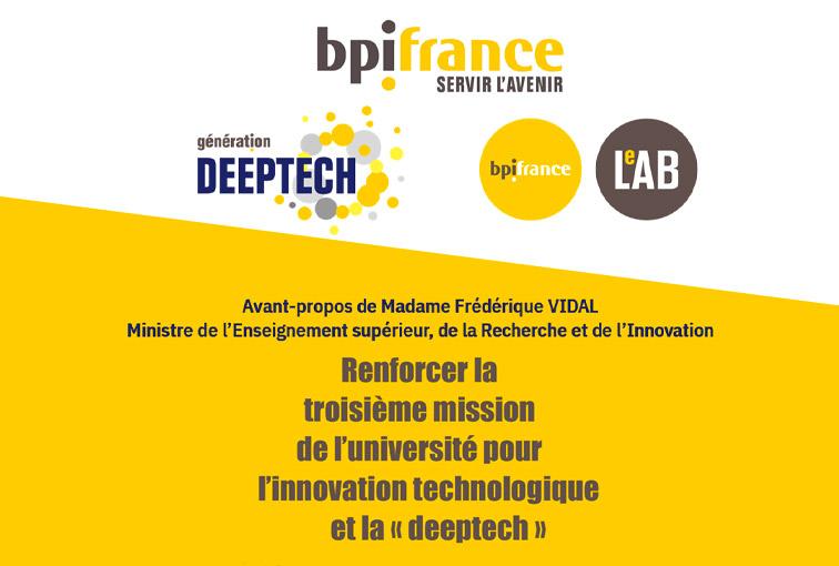 Bpifrance et Paris School of Business publient le livre blanc « Renforcer la troisième mission de l'université pour l'innovation technologique de la « deeptech »