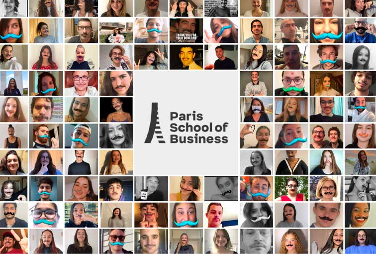 Movember: Paris School of Business raises awareness about male cancers among its students