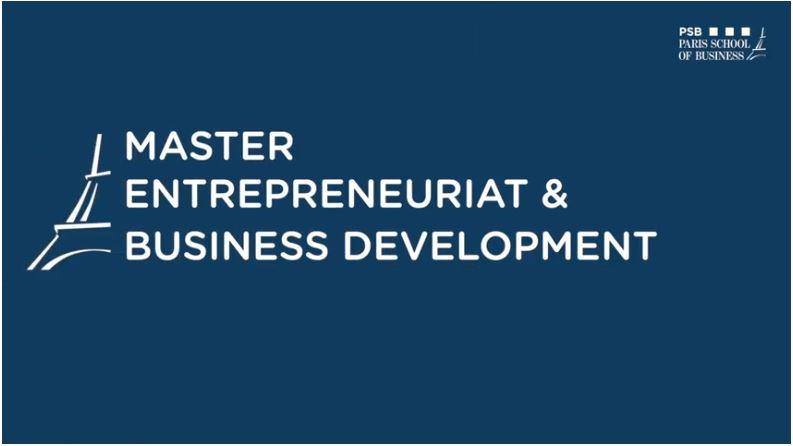 Master Entrepreneuriat