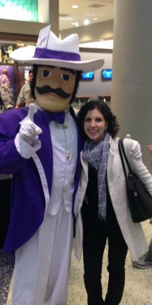 Chloe Laupy en visite sur le campus d'University of Evansville