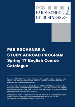 PSB Exchange & Study Abroad Program Spring 17 French Course Catalogue