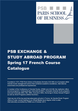 PSB Exchange & Study Abroad Program Spring 17 English Course Catalogue