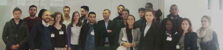 Les étudiants MCG chez AXA à Bruxelles