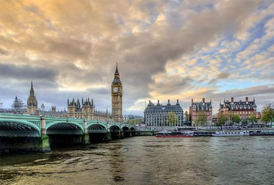 View of the Big Ben in London