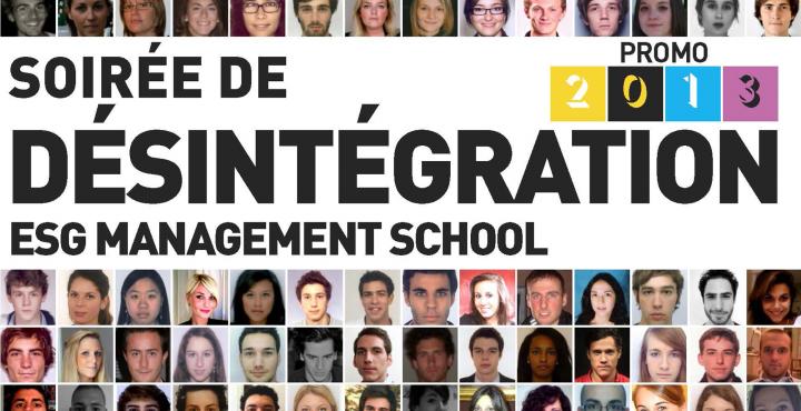 Soirée de désintégration promo 2013 ESG Management School