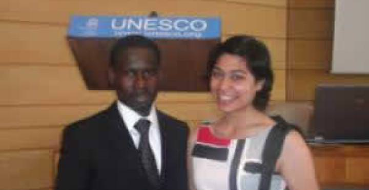 Business Student Association Members at UNESCO event