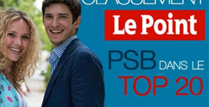 PSB Paris School of Business (ex ESG MS) dans le TOP 20 de Le Point