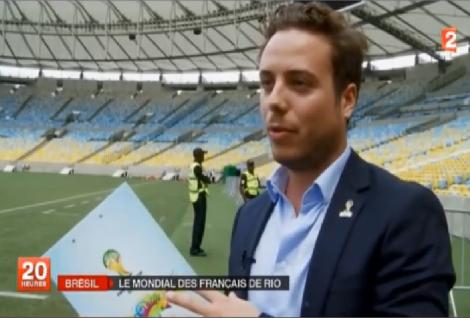 Charles Trabuchet au JT de France 2 le 26 mai 2014