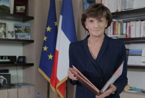 Michèle Delaunay à l'école de commerce