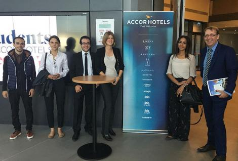 MSc Hospitality & Tourism Management students at the Accor Hotel presentation