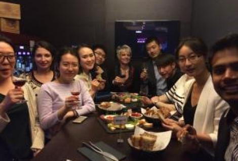 Summer Program in Paris students at wine tasting!