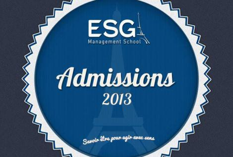 Admissions 2013 ESG Management School