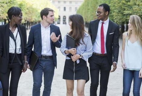 Students at PSB Paris School of Business