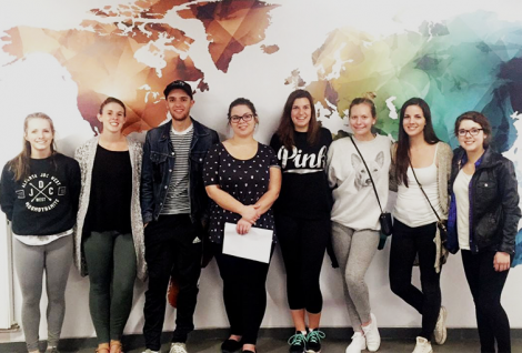 Students from Canada visiting PSB Paris School of Business