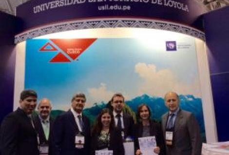 PSB team at NAFSA with partner university USIL