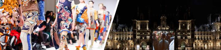 Fashion show and Nuit Blanche in Paris