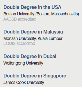 double degree Master 1