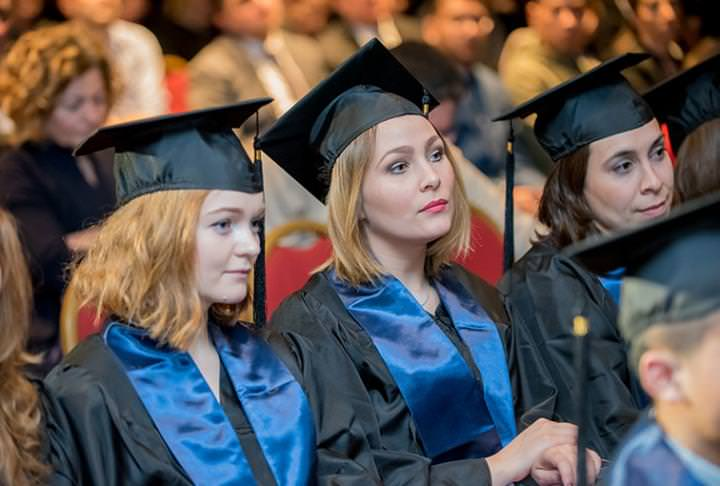 Students at the Graduation Ceremony