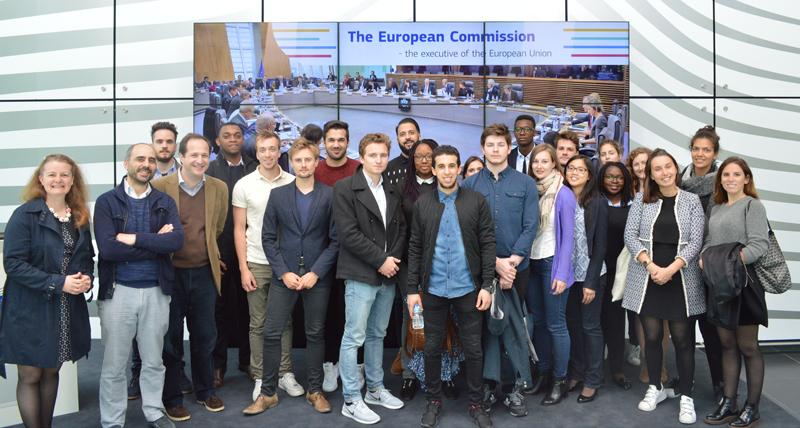 Les étudiants MCG à la Commission Européenne à Bruxelles